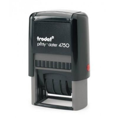 Σφραγίδα Ημερομηνιών TRODAT 4750, Διάσταση αποτυπώματος 41 Χ 24 mm, 2 σειρών, Μέγεθος ημερομηνίας 20 Χ 3.8 mm.