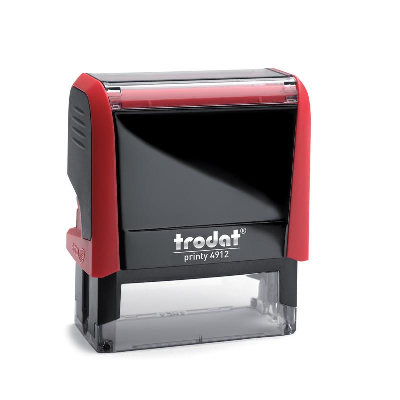 Αυτομελανούμενη σφραγίδα TRODAT 4912, Σφραγίδα 3-5 σειρών. - Διάσταση αποτυπώματος 47 Χ 18 mm.