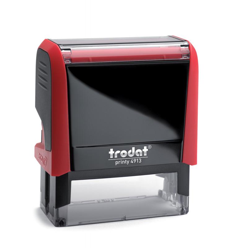 Αυτομελανούμενη σφραγίδα TRODAT 4913, Σφραγίδα 5-7 σειρών. - Διάσταση αποτυπώματος 58 Χ 22 mm.
