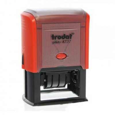 Σφραγίδα Ημερομηνιών TRODAT 4727, Διάσταση αποτυπώματος 60 Χ 40 mm, 4 σειρών, Μέγεθος ημερομηνίας 20 X 3.8 mm.