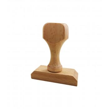 Ξύλινη σφραγίδα 3-4 σειρών - Διάσταση αποτυπώματος 50 Χ 20 mm.