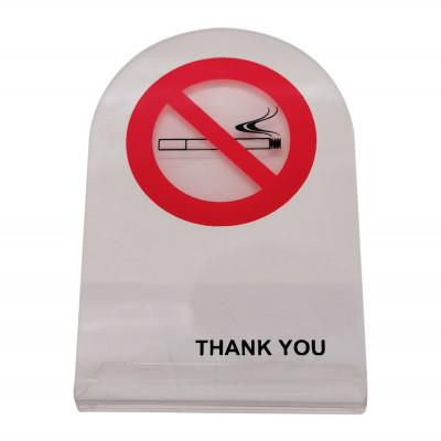 Απαγορεύεται το Κάπνισμα - Επιτραπέζιο σταντ Plexiglass   - 7cm X 10,5cm