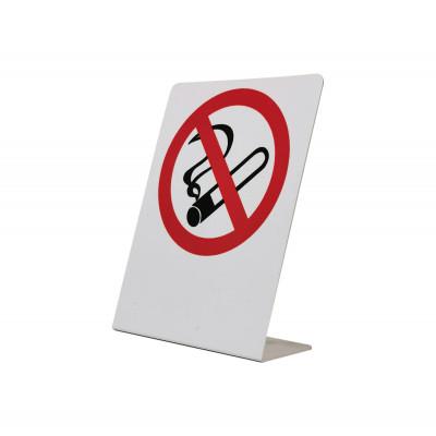 Απαγορεύεται το Κάπνισμα - Επιτραπέζιο σταντ Μεταλλικό αλουμίνιο         - 6cm X 7,5cm