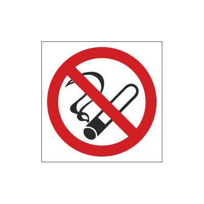 Απαγορεύεται το Κάπνισμα -Αυτοκόλλητο βινύλιο με πλαστικοποίηση  - 5cm X 5cm