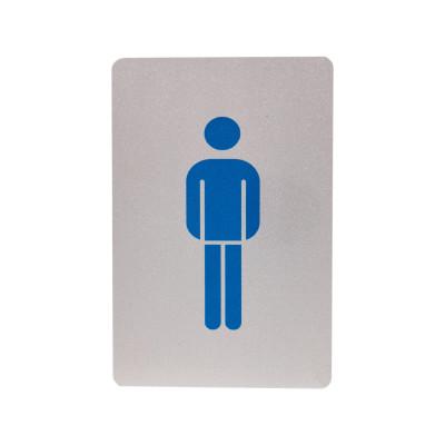 Μεταλλική σήμανση αλουμινίου - WC Ανδρών - 6cm X 9cm