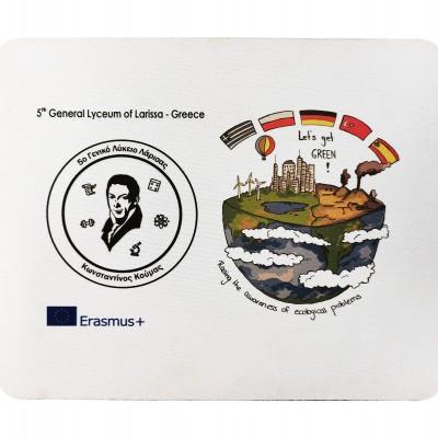 Διαφημιστικό mousepad με το λογότυπο και τα στοιχεία σας. Διαστάσεις 22,8Χ19 cm